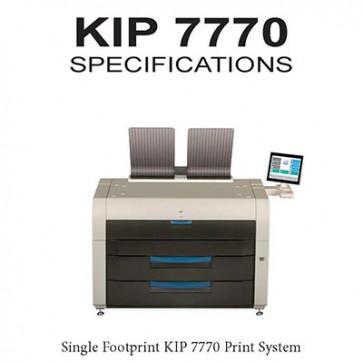 """KIP 7770 Print System 2 or 4 roll printer, B&W 36"""" wide format printer, 600x2400 dpi"""