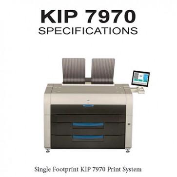 """KIP 7970 Print System 4roll printer, B&W 36"""" wide format printer, 600x2400dpi"""
